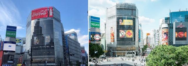 東京屋外広告コンクールで受賞した渋谷のサイネージ
