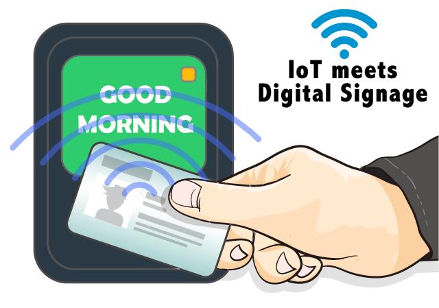 IoTが届けるデジタルサイネージ・コンテンツ